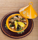 Tajine with chicken, Moroccan food  — Stock Photo