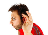 Young boy with hearing — Stock Photo