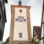 Historic tower in Rothenburg ob der Tauber — Stock Photo