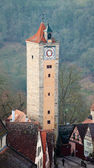 Castle tower of Rothenburg ob der Tauber — Stock Photo