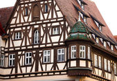 Traditional Half Timbered House in Rothenburg ob der Tauber — Stock Photo