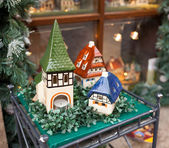 Porcelain houses, typical souvenirs Rothenburg ob der Tauber — 图库照片