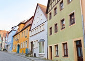 Typical houses in Rothenburg ob der Tauber — Stock Photo