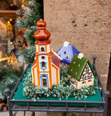 Porcelain houses, typical souvenirs Rothenburg ob der Tauber — ストック写真