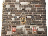 Eagles emblem on the wall in Rothenburg od der Tauber — Stock Photo