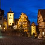 Rothenburg ob der Tauber by night — Stock Photo