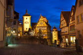 Rothenburg ob der Tauber by night — Stock Photo
