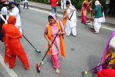 Nagarkirtan,印度的宗教游行,圣乔凡尼瓦 — 图库照片