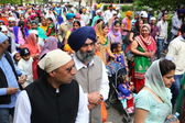 Nagarkirtan, Indian religious procession, San Giovanni Valdarno — Stock Photo