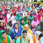 Nagarkirtan, Indian religious procession, San Giovanni Valdarno — Stock Photo #44681675