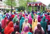 Nagarkirtan, индийской религиозной процессии, сан-джованни-валдарно — Стоковое фото