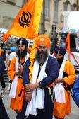 Nagarkirtan, Indian religious procession, San Giovanni Valdarno — Stock Photo