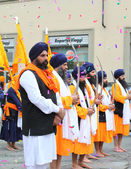 Nagarkirtan, Indian religious procession, San Giovanni Valdarno — Photo