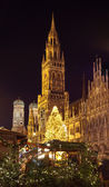 The christmas market on the Marienplatz in Munich — Stock Photo