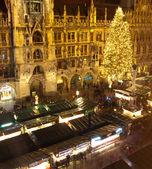 クリスマス マーケット ミュンヘンの航空画像 — ストック写真