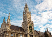 New city hall at Marienplatz Munich — Stock Photo