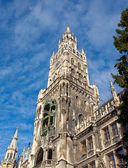 The Marienplatz in Munich with tree christmas — Stock Photo