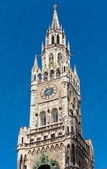 Top of Munich city hall bell tower in Bavaria — Stock Photo