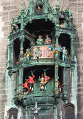 Glockenspiel on the Munich city hall — Stock Photo