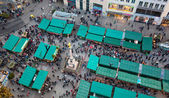 Aerial view of christmas markets in Munich — 图库照片