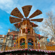 Typical wooden christmas carousel, Munich — Stock Photo