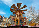Typical wooden christmas carousel, Munich — Stok fotoğraf