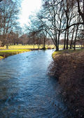 English Garden of Munich in Bavaria in the autumn — Stock Photo