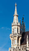 Detail of the town hall on Marienplatz — Stok fotoğraf