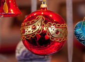 Christmas red ball — Stock Photo