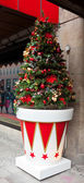 Christmas tree out of shopping mall — Stock Photo