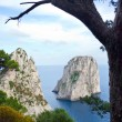 Faraglioni, famous giant rocks, Capri island — Stock Photo