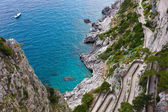 Capri, Via Krupp, Italy. — Stock Photo