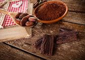 Ingredients for artisan chocolate — Stock Photo