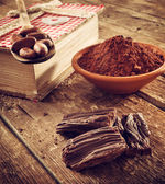 Ingredients for artisan chocolate — Stock Photo