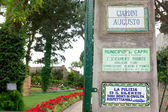 Garden of Augustus Capri, Italy — Stock Photo