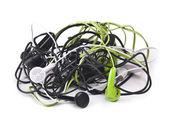 Twisted headphones — Stock Photo