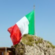 Italian flag waving on the wind — Stock Photo #48217247