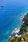View of the coast of the island of Capri — Stock Photo