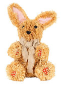 Easter straw rabbit  — Stock Photo