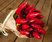 Bunch of red hot pepper — Stock Photo