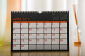 April 2013 month calendar page — Stock Photo