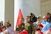The celebration of Victory Day in Moscow. — Stock Photo