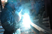 Welding man — Stock Photo
