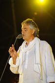 Andrea Bocelli performing opera — Stock Photo