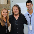 Stock Photo: Novak Djokovic , Zucchero Sugar Fornaciari and Jelena Ristic