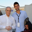 Novak Djokovic and Josè Carreras — Stock Photo