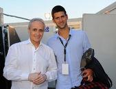 Novak Djokovic and Josè Carreras — Stock Photo