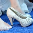 Bride shoes — Stock Photo