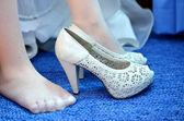 Sapatos de noiva — Foto Stock