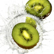 Kiwi splash on water - Stock Photo